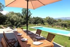 La-Villa-Aux-Buis : Déjeuner en Terrasse